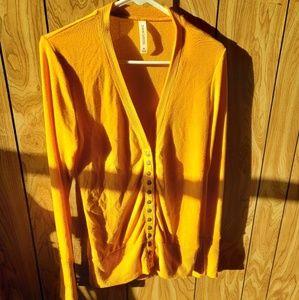 Mustard yellow snap cardigan